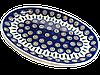 Блюдо сервировочное овальное среднее керамическое 31 х 20 Перо Павлина