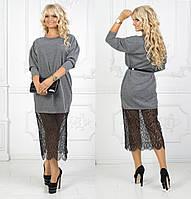 Женское платье твид-ангора большой размер 52-54. Артикул: 0102910
