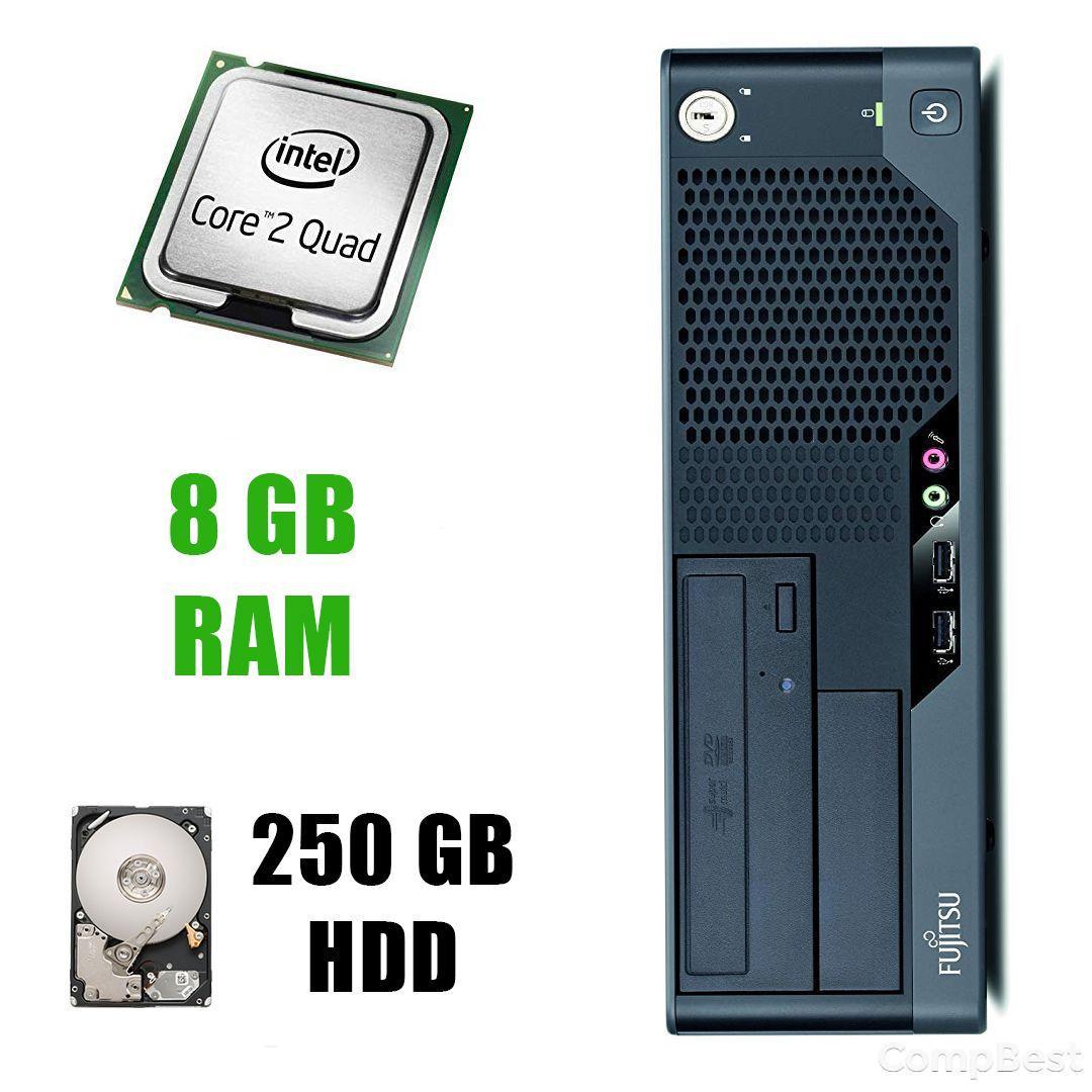 Fujitsu-Siemens ESPRIMO E7935 / Intel Core2Quad Q6600 (4 ядра по 2.4GHz) / 8 GB DDR2 / 250 GB HDD