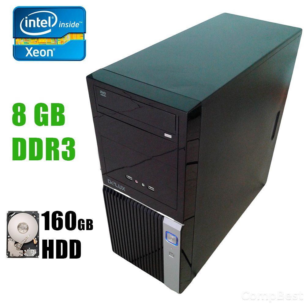 Сервер MidiTower / Intel Xeon E3-1220 (4 ядра по 3.1-3.4GHz) / 8GB DDR3 ECC / 160GB HDD / 300W / SATA
