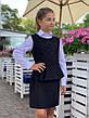 Школьный сарафан перфорация с баской 128-146 см разные цвета, фото 5