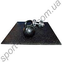 Резиновый коврик для гантелей штанги 15мм р.90 х 60см