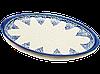 Блюдо овальное плоское с ушками среднее керамическое 32 х 21 Ocean Breeze
