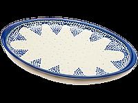 Блюдо овальное плоское с ушками среднее керамическое 32 х 21 Ocean Breeze, фото 1