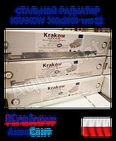 Сталевий радіатор Krakow 300x2000 тип 22 бокове підключення
