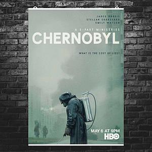 """Постер """"Чернобыль"""", Chernobyl, сериал HBO, официальный постер. Размер 60x43см (A2). Глянцевая бумага"""