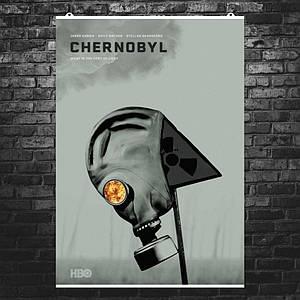 """Постер """"Чернобыль"""", Chernobyl, сериал HBO, альтернативный постер 2. Размер 60x43см (A2). Глянцевая бумага"""