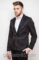 Мужской пиджак приталенный черный