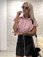 Женская рубашка блуза разные цвета С, М, Л розовая, фото 1