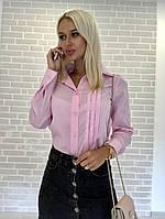 Рубашка женская с длинным рукавом цвета разные С, М, Л, фото 1