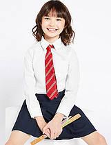Школьнаяблузка белая с длинным рукавом на девочку  6-7 лет Хлопок Slim Fit Non-Iron Marks&Spencer (Англия)