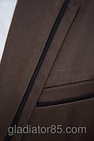 Мужской пиджак приталенный коричневый