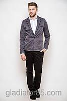 Мужской пиджак приталенный темно- серый