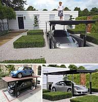 Механическая многоэтажная парковка.