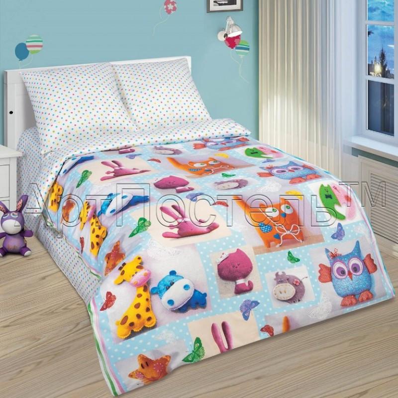 Комплект постельного белья  в кроватку Плюшевый мир