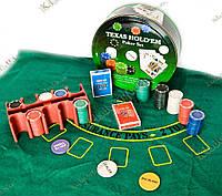 Покерный набор (2 колоды карт+200 фишек+сукно)