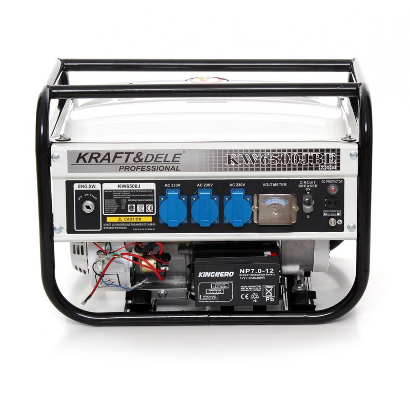 Генератор бензиновый Kraft&Dele 2500W 230V 6.5KM 12V