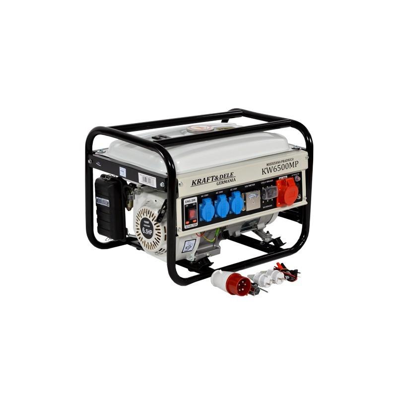 Генератор бензиновый Kraft&Dele 2500W / 230-380V / 6.5 KM