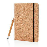 Экоблокнот Cork А5 с ручкой-стилусом