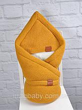 """Конверт-одеяло на выписку на махре """"Familia"""", горчица"""
