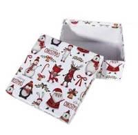 Коробка подарочная ООТВ Рождественские мотивы 20 х 20 х 8 см