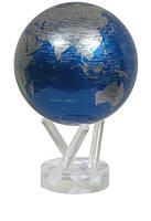 """Гиро-глобус Solar Globe Mova """"Политическая карта"""" 11,4 см, голубой с серебром (MG-45-NBE)"""