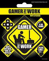 Винил. наклейки Gamer at Work