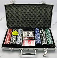 Покерный набор в алюминиевом кейсе (300 фишек, 39х21х7 см)