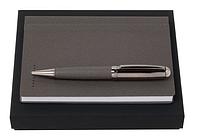 Набор Fabric Light Grey блокнот А6 и ручка Hugo Boss