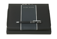 Набор Hugo Boss шариковая ручка Formation и папка для конференций А5 Gear Blue