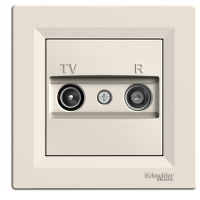 TV-SAT Розетка EPH3400323 проходна (8dB) ASFORA Schneider Electric Крем