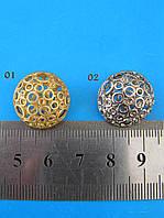 Металлическая круглая пуговица