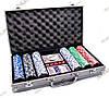 Покерный набор в алюминиевом кейсе (2 колоды карт + 300 фишек, 38х22,5х6,5 см)