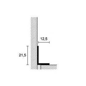 Алюминиевый плинтус напольный Profilpas Metal Line AL M Design для керамической плитки