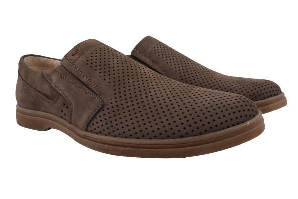 Туфли мужские классические Mida натуральный нубук, цвет коричневый