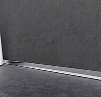 Алюминиевый плинтус напольный Profilpas Metal Line AL M Design для керамической плитки  Цвет серебро
