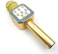 Беспроводной микрофон караоке с динамиком 1818, gold