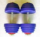 """Гантели наборные """"Титан ПРО"""" 2 шт по 25 кг с блинами 5 кг, фото 2"""