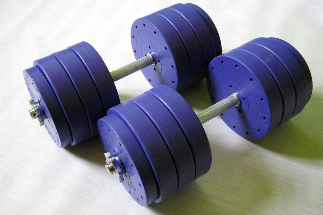 """Гантели наборные """"Титан ПРО"""" 2 шт по 38 кг с блинами 5 кг"""