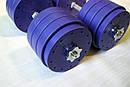 """Гантели наборные """"Титан ПРО"""" 2 шт по 38 кг с блинами 5 кг, фото 2"""