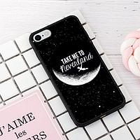 """Винтажный чехол накладка для iPhone 7plus, 8plus. """"Neverland"""". Силиконовый бампер для айфон."""