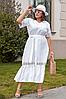 Женское платье льняное с кружевной отделкой, с 48-56 размер