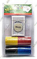 Покерный набор в блистере (Колода карт + 136 фишек, 25,5х15,5х4 см)