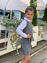 """Детское школьное платье-сарафан """"Полина"""" с баской и пефорацией (3 цвета), фото 3"""