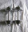 Гантели наборные хромированные 2 шт по 6,5 кг, фото 2