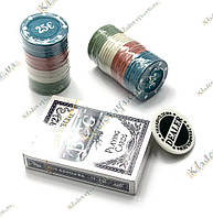 Покерный набор в блистере (Колода карт + 48 фишек, 24,5х10х4 см)