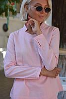 Брючный женский костюм со стоечкой -пудра, фото 4