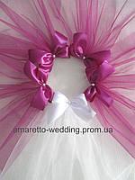 Фата для девичника (цвет пурпурный)