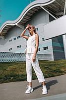Брючный женский костюм «Самбука» - белый, фото 3