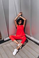 Стильный костюм с воротником стойкой - белый, красный, фото 4